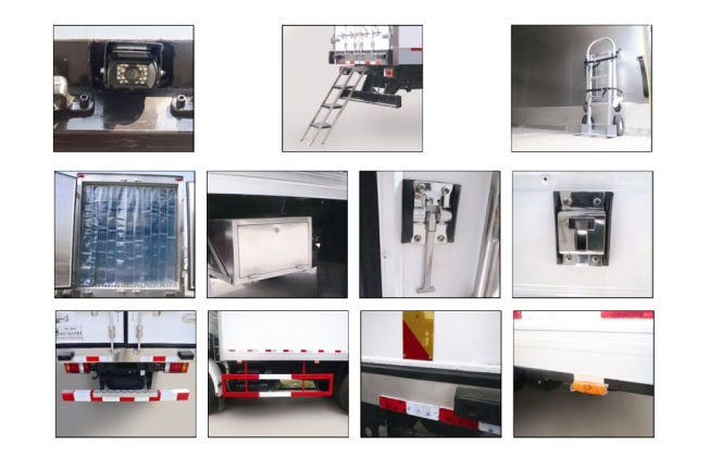Technology Pictures for JMC KY 13.9 cubic meters refrigerated truck