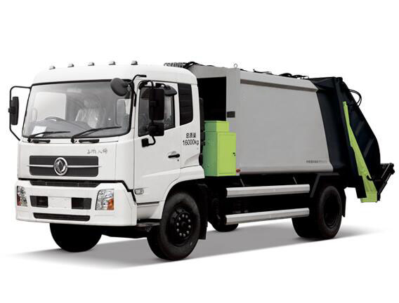 Compression refuse collector truck