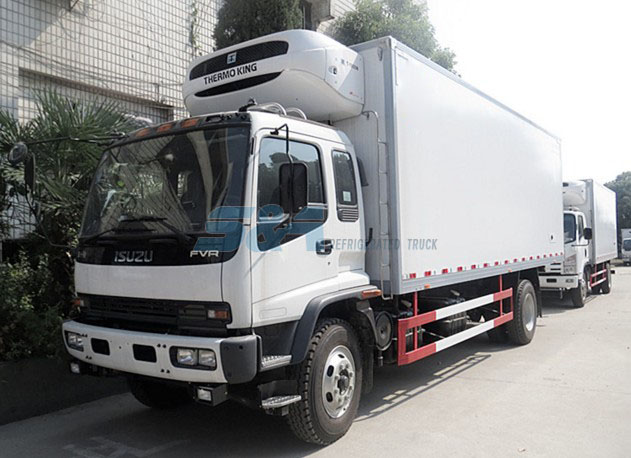 isuzu 240hp refrigerated transport truck