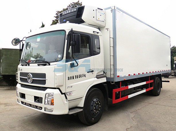 211hp Dongfeng refrigerated transport truck