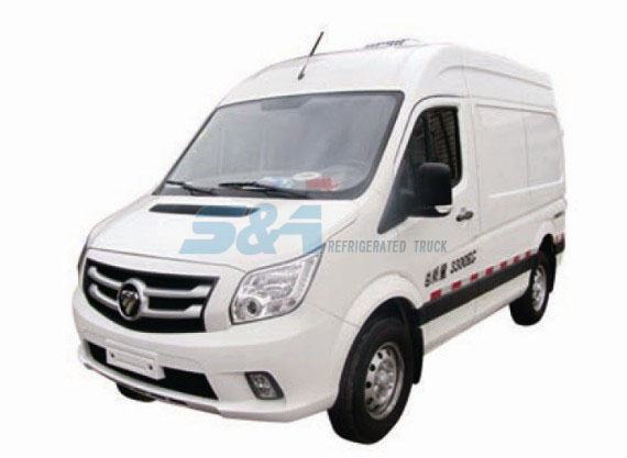 130HP 4 cubic meters FOTON Mini refrigerated truck