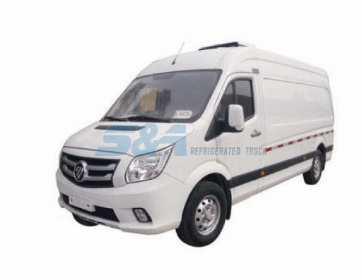 163HP 6.3 cubic meters FOTON Mini refrigerated truck
