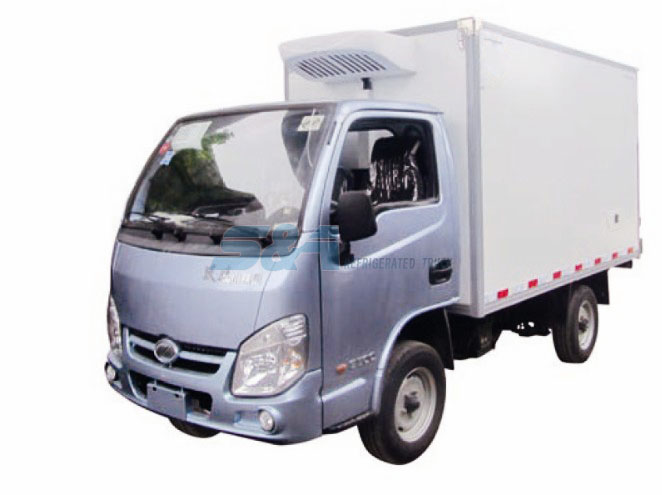 7.5 cubic meters YUEJIN Small refrigerated truck