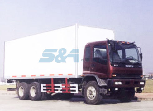 ISUZU 36.4 cubic meters of insulated transport trucks