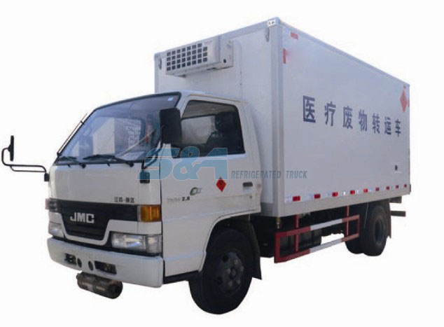 Medical waste transport truck